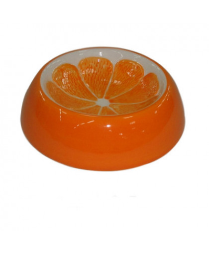 Миска для грызунов FOXIE Orange керамическая 13х3,5см 90мл