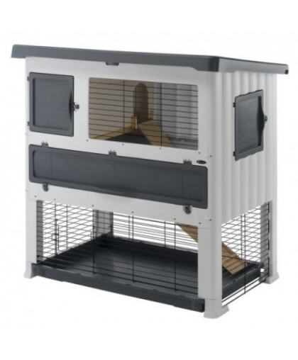 Клетка для грызунов FERPLAST Grand Lodge 140 Plus для содержания кроликов на улице, пластик