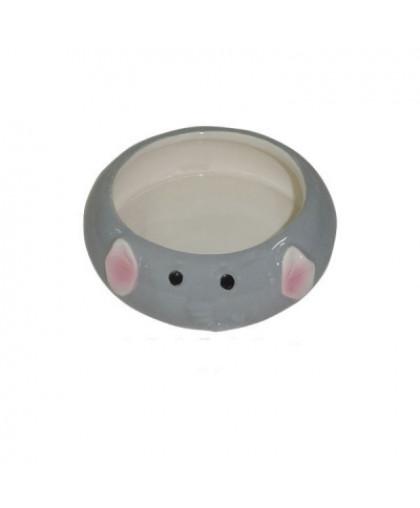 Миска для грызунов FOXIE Elephant серая керамическая 8,5х2,5см 80мл