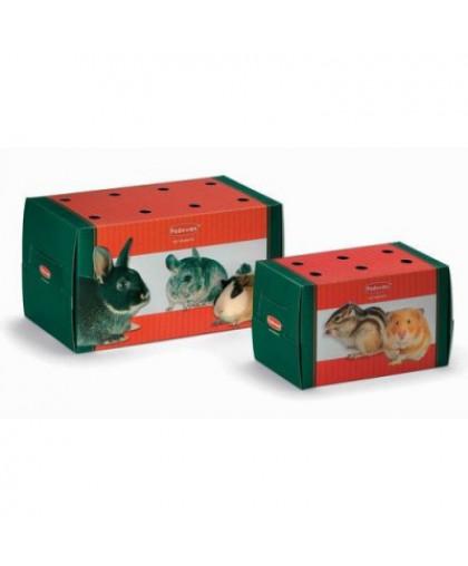 Переноска для грызунов и птиц PADOVAN TRASPORTINO grande одноразовая картонная 22,5х12,5х12,5см