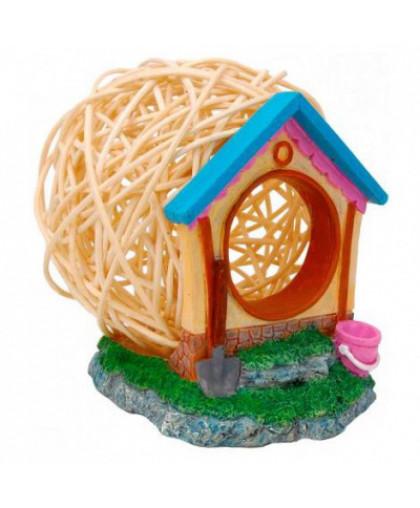 Дом для грызунов FAUNA international HAMSTER HOUSE, дерево/пластик